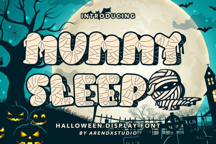 Mummy Sleep - Halloween Display Font example image 1