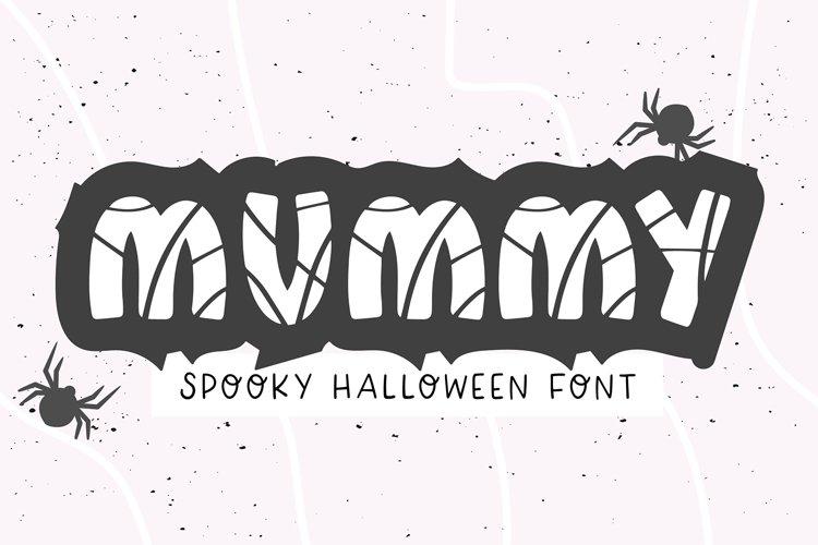MUMMY Halloween Bandage Font example image 1
