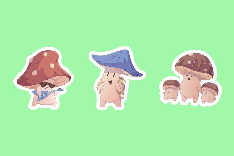 Mushroom Sticker Illustrations