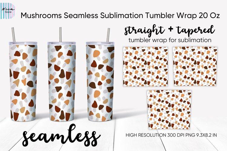 Mushrooms Seamless Sublimation Tumbler Wrap 20 Oz example image 1