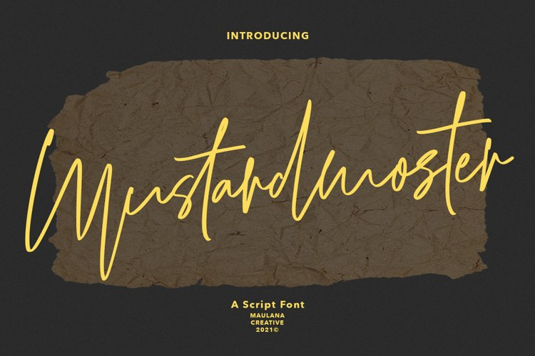 Mustardmoster Script Font example image 1
