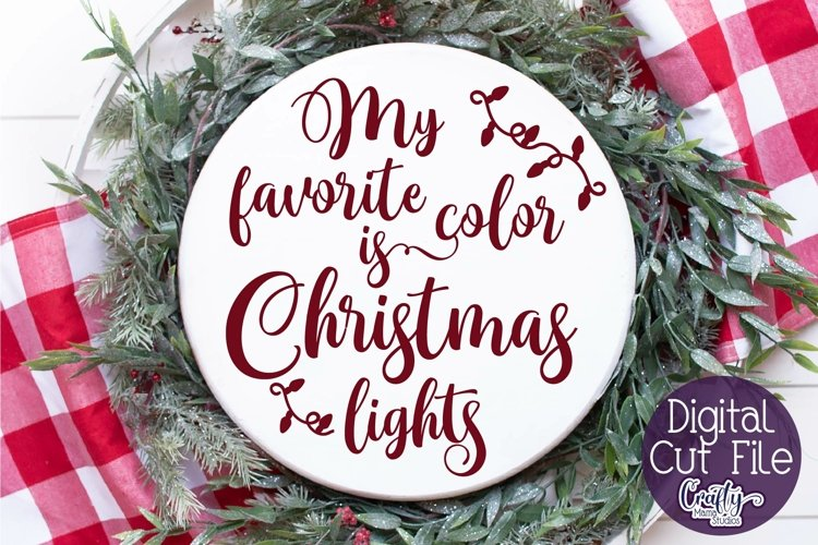 Christmas Svg, My Favorite Color Is Christmas Lights Svg example image 1