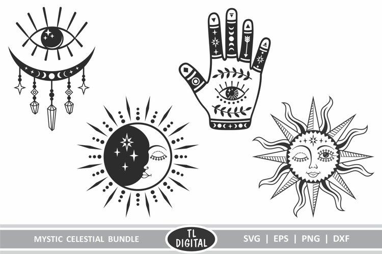 Mystic Bundle - Celestial Bundle - 4 Designs - Boho Cut File