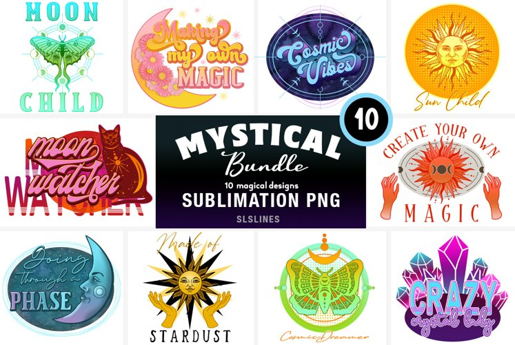 Mystical Sublimation BUNDLE - Moon, Sun and Cosmic Designs