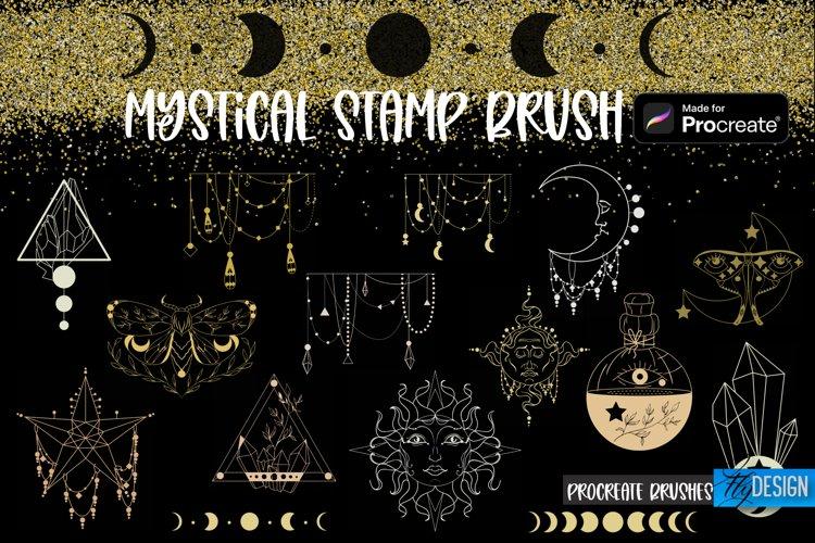 Mystical Procreate Brush Stamp. Magic Boho Witch Stamps. example image 1
