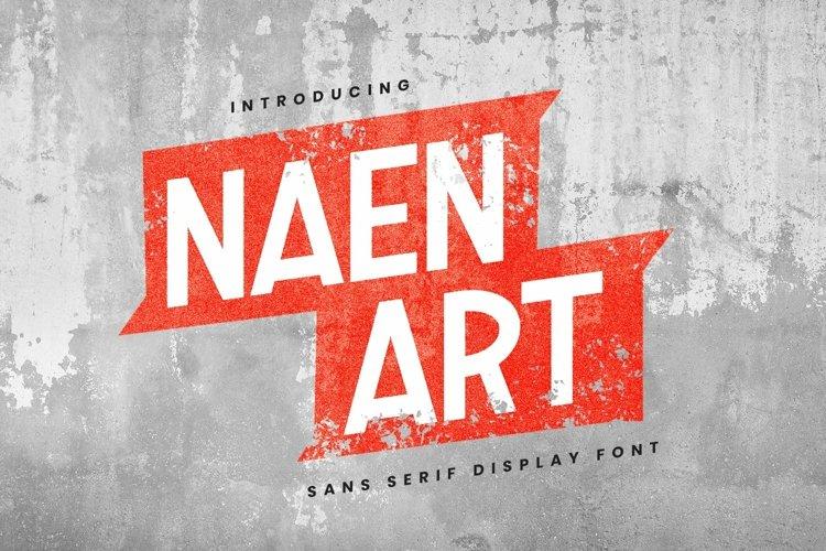 Web Font Naen Art Font example image 1