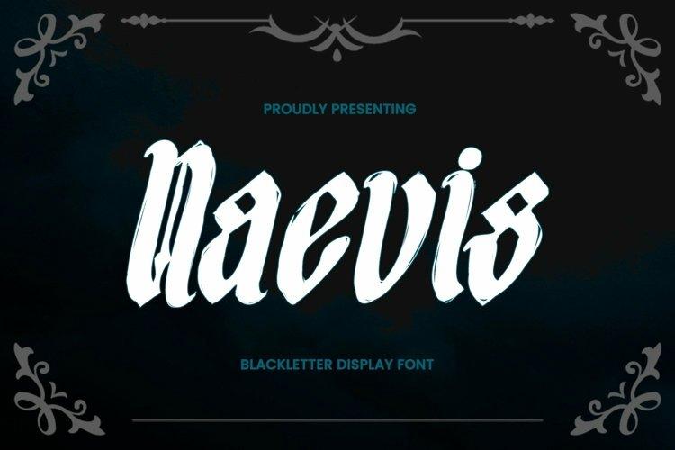 Web Font Naevis - Blackletter Font example image 1