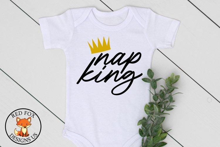 Nap King SVG | Newborn SVG | Toddler Svg | SVG For Cricut example image 1