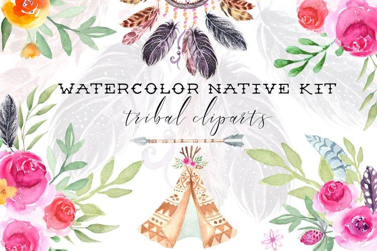 Watercolor Cliparts Native Kit