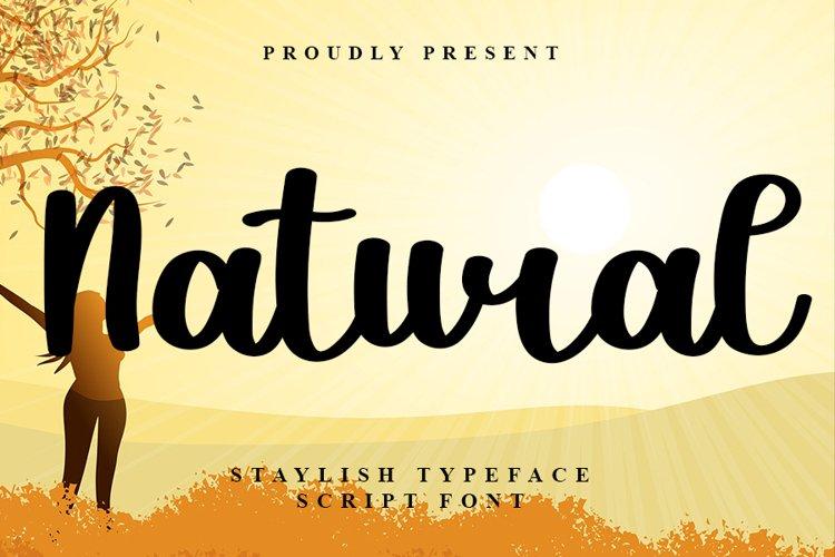 Natural - New Beautiful Script Font example image 1