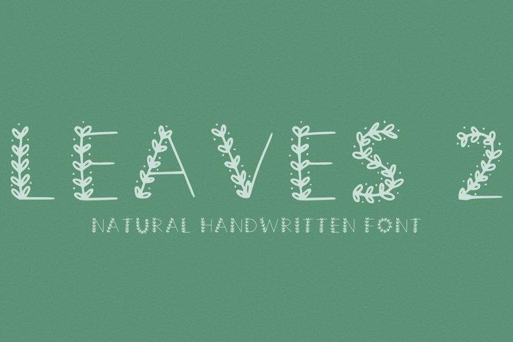 leaves natural font