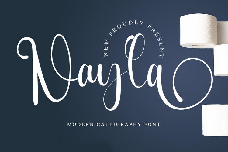 Nayla - Modern Calligraphy Font example image 1