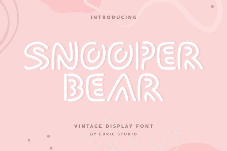 Snooper Bear example image 1