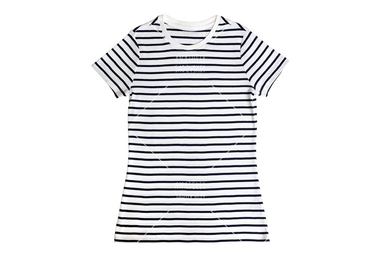 Women t-shirt isolated on white background