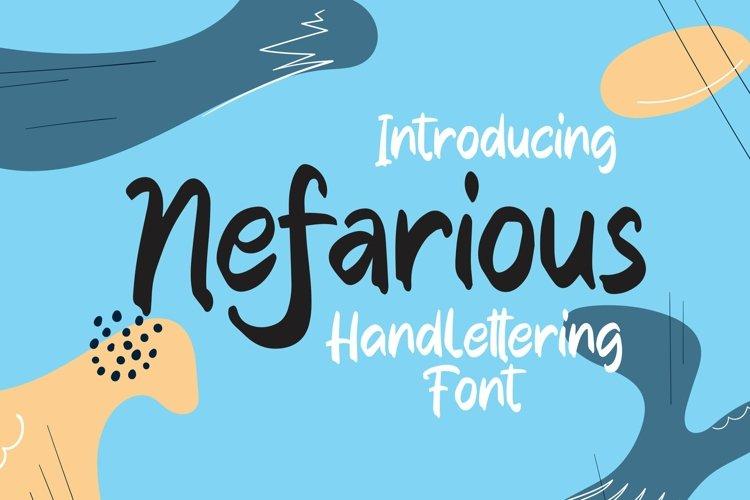 Web Font Nefarious - Handlettering Font example image 1