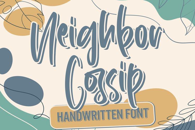 Neighbor Gossip - Handwritten Font example image 1