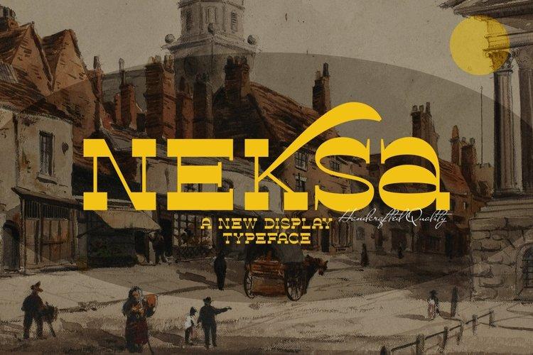 Web Font Neksa example image 1