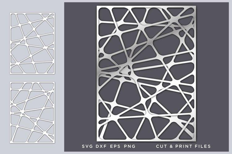 Wall art 3D, Geometric Networks Svg, File for Cricut, Laser