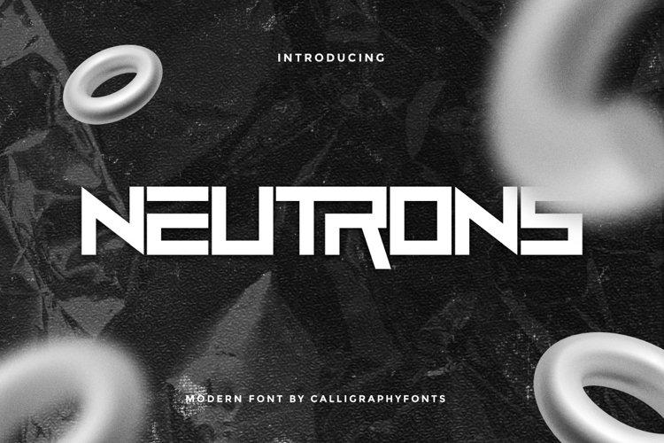 Neutrons example image 1