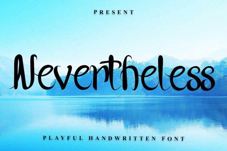 Nevertheless - Handwritten Font example image 1
