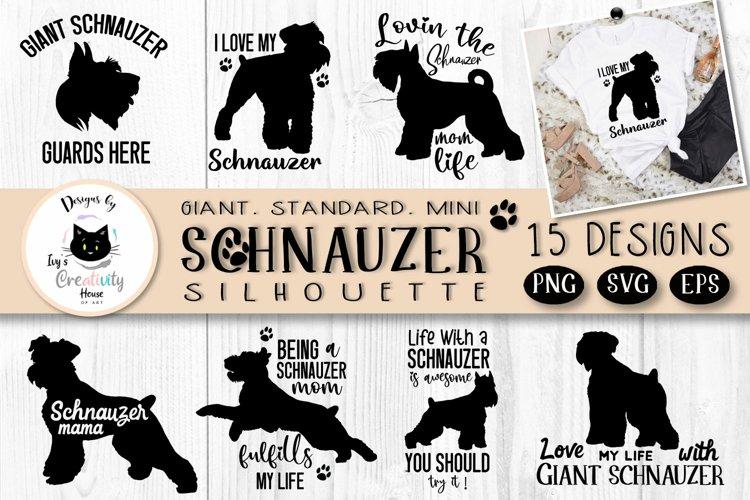 Schnauzer Dog Silhouette SVG Bundle   Dog SVG For Cricut