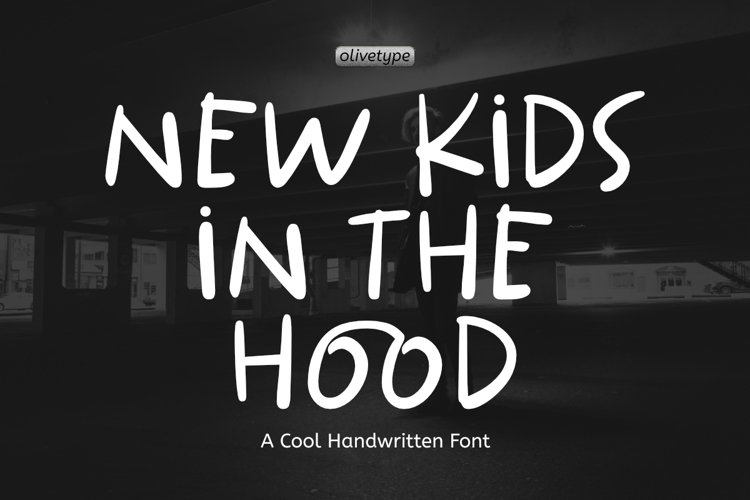 New Kids In The Hood - A Cool Handwritten Font. example image 1