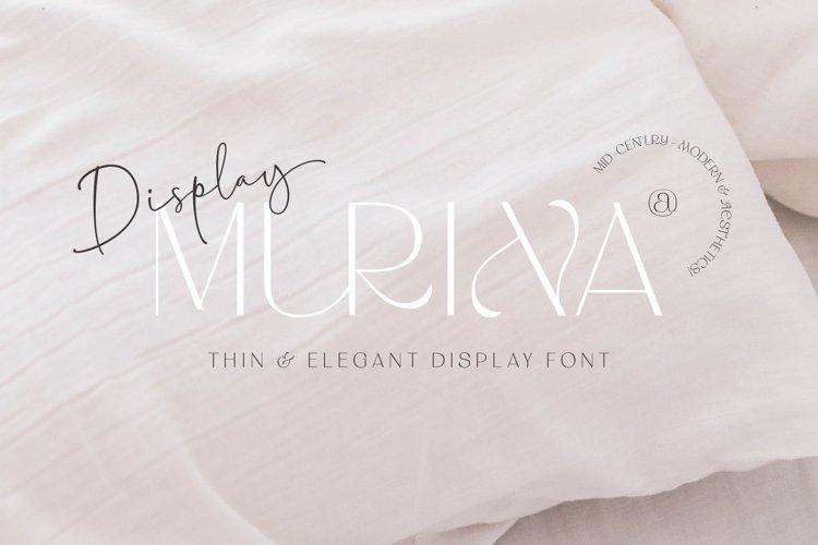 MURINA DISPLAY FONTS example image 1