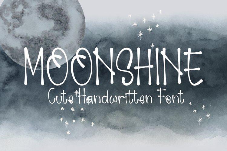 Moonshine - Cute Handwritten Font example image 1