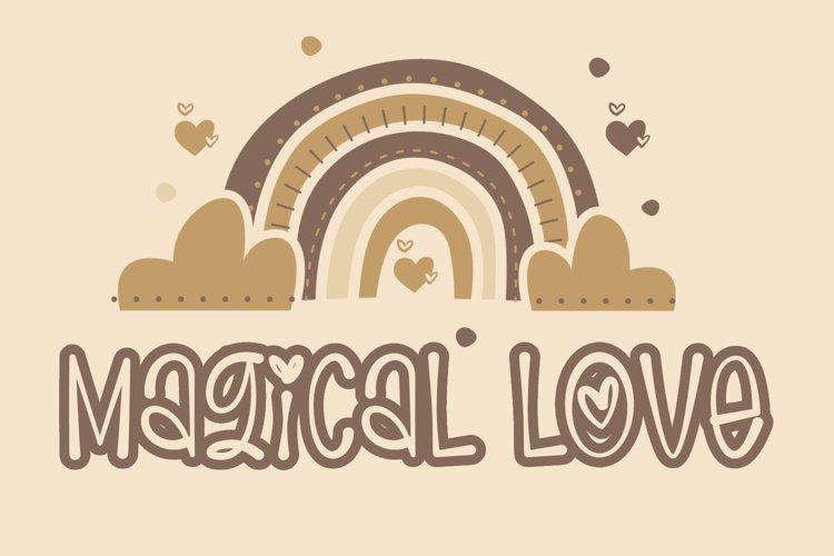 Magical Love - Cute Handwritten Font example image 1