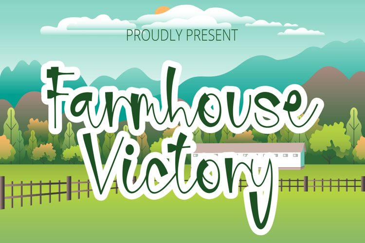 Farmhouse Victory - Handwritten Font example image 1