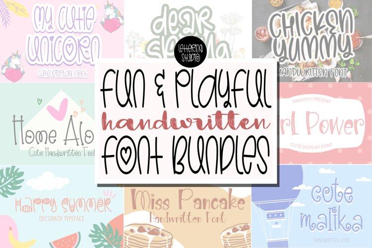 Fun and Playful Handwritten Font Bundles - Best Seller Font example image 1