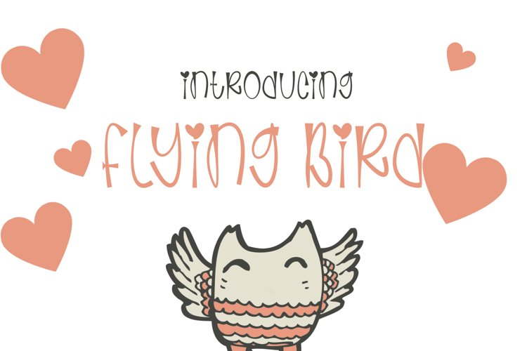 Flaying Birds - Cute and Quirky Handwritten Font example image 1