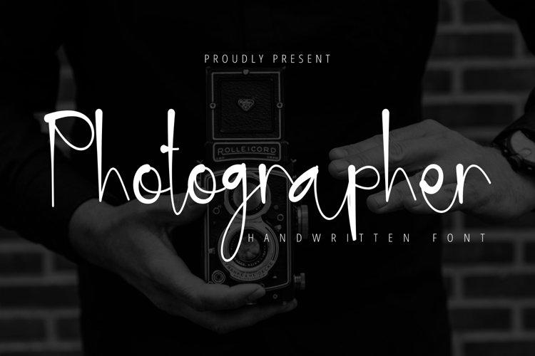 Photographer - Handwritten font example image 1