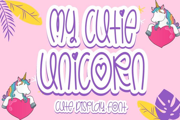 My Cutie Unicorn - Cute Display Font example image 1