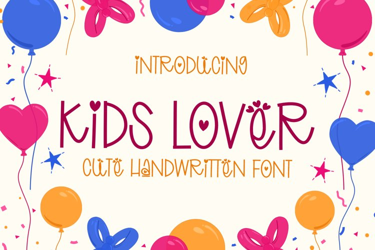 Kids Lover - Cute Handwritten Font example image 1