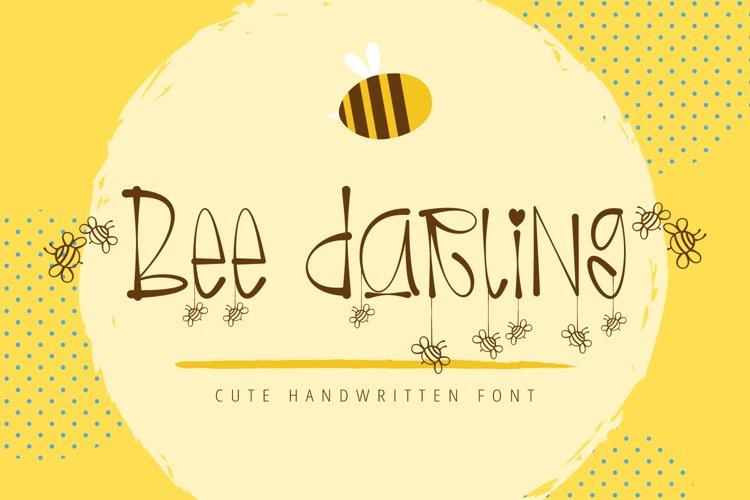 Bee Darling - Cute Handwritten Font example image 1