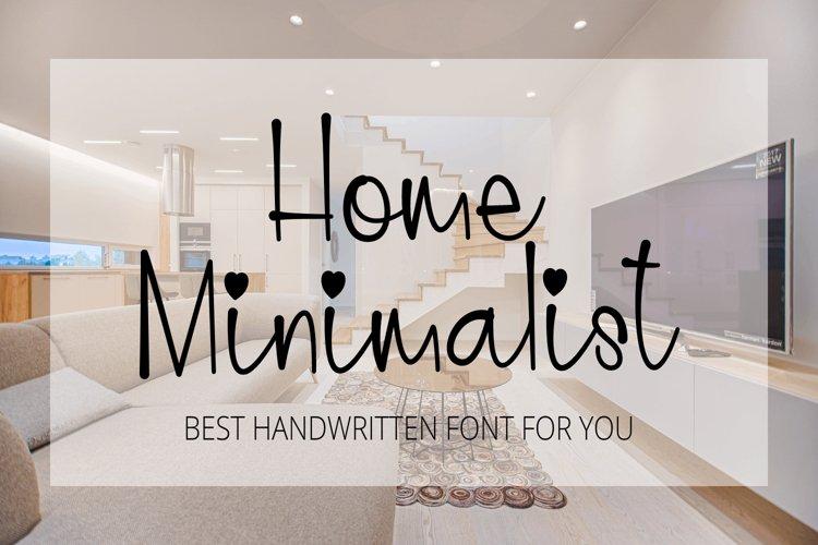 Home Minimalist - Beauty Handwritten Font example image 1