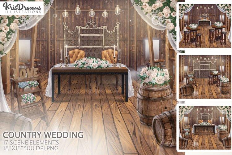 Country Wedding, Wedding Scene, Wedding Backdrop, Scene