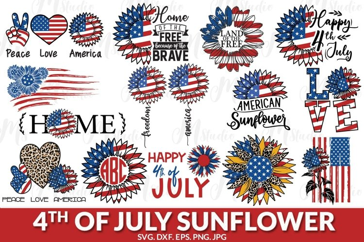 Sunflower 4th of july svg.