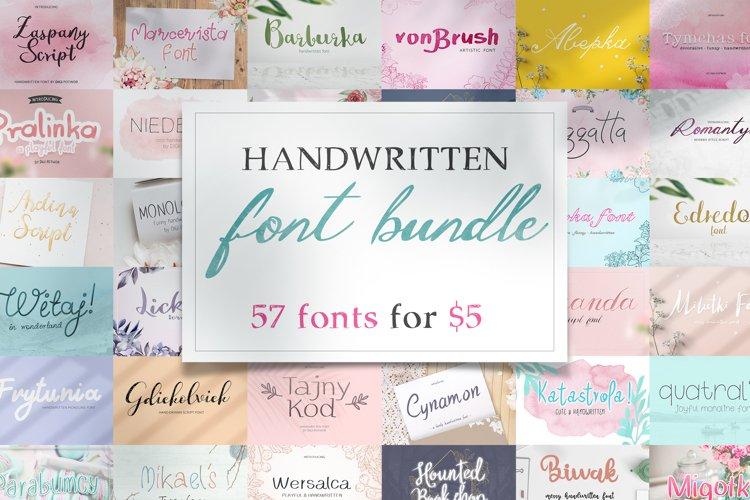Amazing handwritten font bundle! example image 1