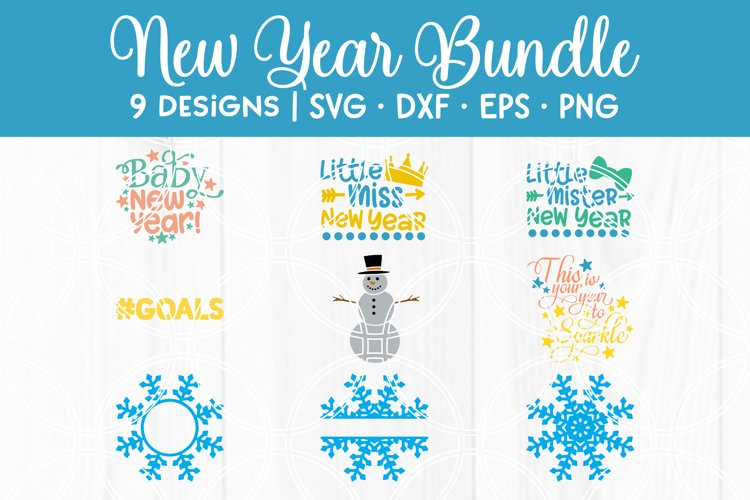 New Years SVG Bundle Winter Cut Files for Cricut Silhouette
