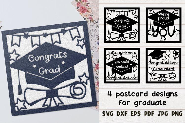SVG Set Graduation cards for laser cut, Cricut, Silhouette.