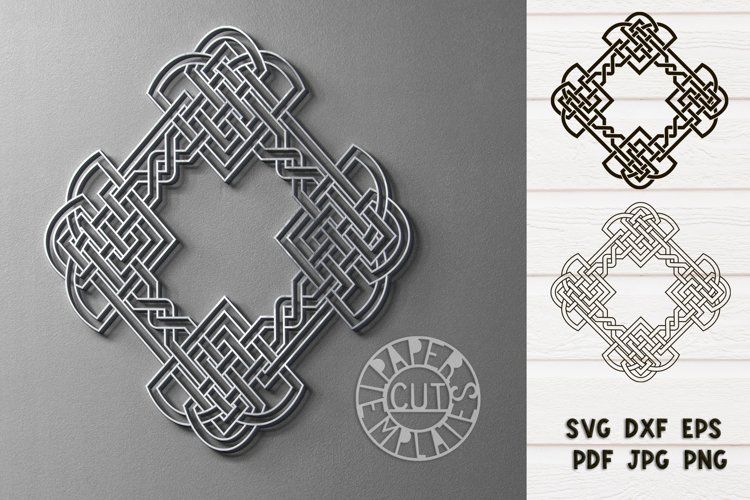 SVG Celtic irish ornament for Cricut & Silhouette.