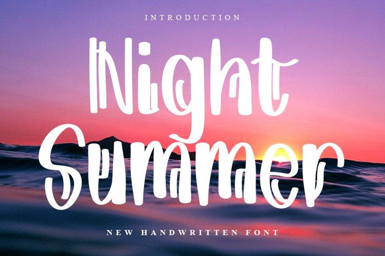Night Summer   New Handwritten Font example image 1