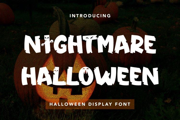 Nightmare Halloween - Halloween Diisplay Font example image 1