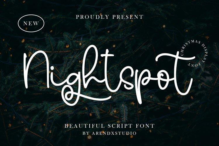 Nightspot - Beautiful Scipt Font example image 1