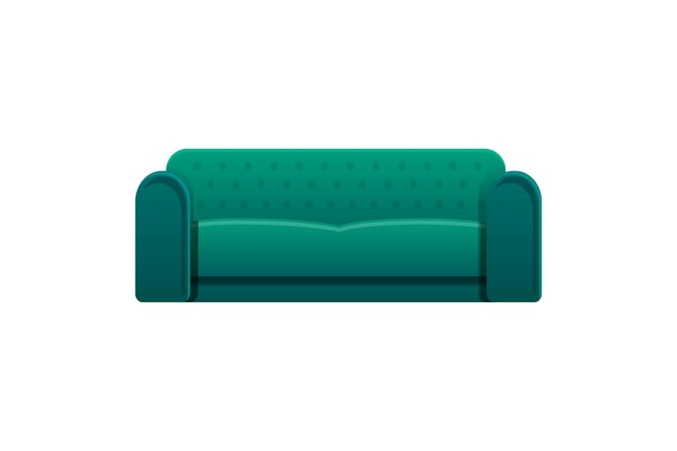 Leather sofa icon, cartoon style example image 1