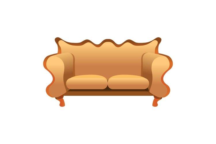 Vintage sofa icon, cartoon style example image 1