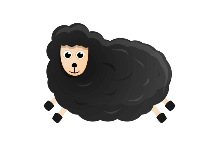 Black sheep icon, cartoon style example image 1