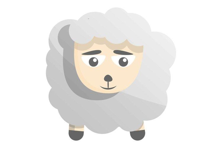 Sad sheep icon, cartoon style example image 1